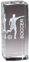 3-D Laser Crystal - Soccer Female