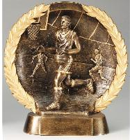 3D Wreath Male Basketball Award
