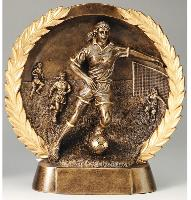 3D Wreath Female Soccer Award