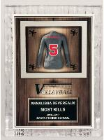 Volleyball Sculptured Ice Jersey Award