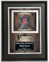 Volleyball Jersey Award Plaque