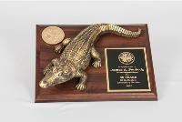 Brass Gator on Base