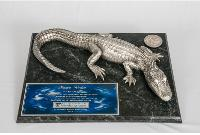 Pewter Gator on 15x12 Plaque