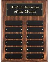 Walnut Perpetual Plaque with Black Plates