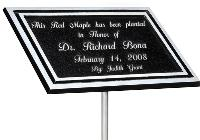 Aluminum Garden Memorial Plaque