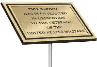 Bronze Memorial Garden Plaque