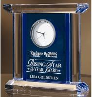 Blue/Clear Crystal Clock