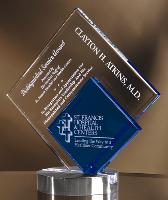 Blue/Clear Crystal Diamond Award