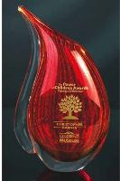 Red Art Glass Teardrop Vase