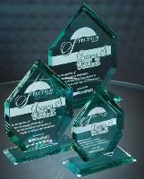 Liberty Diamond Jade Glass Award