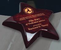 Piano Wood Star Paperweight