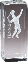 3-D Laser Crystal - Tennis Male