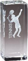 3-D Laser Crystal - Tennis Female