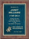 Blue Gator Skin Plaque