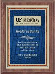 Blue and Orange Gator Skin Plaque