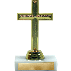 Gold Cross on Marble Base