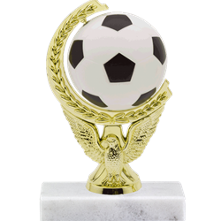 Soccer Ball - Spinning Squeeze Ball Trophy