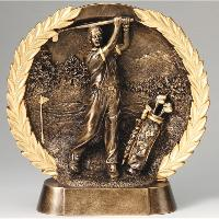 3D Wreath Plate Male Golf Award